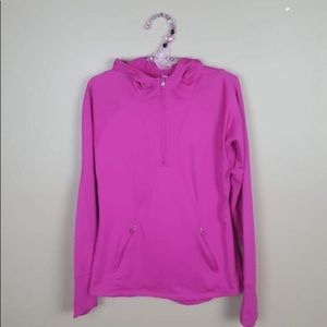 Gap fit 1/4 zip thumb hole pullover hoodie small